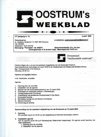 Oostrum's Weekblad 2002-04-04