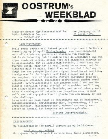 Oostrum's Weekblad 1975-04-24