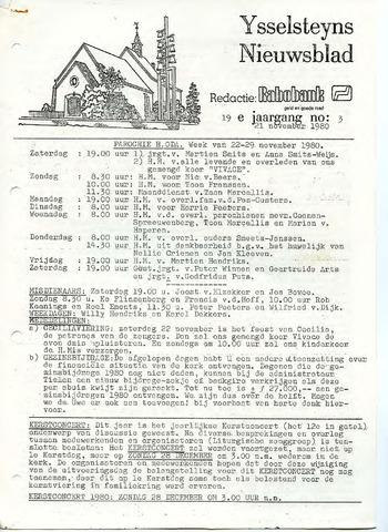 Ysselsteyns Nieuwsblad 1980-11-21