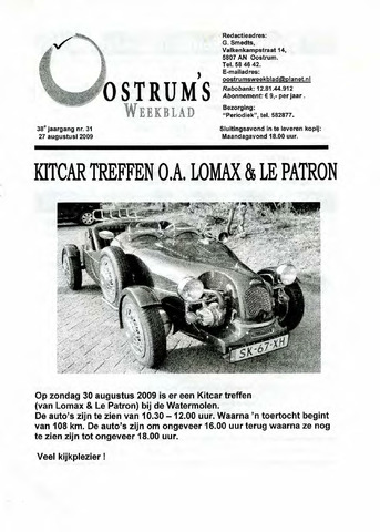 Oostrum's Weekblad 2009-08-27