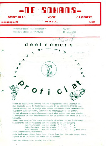 Castenrays dorpsblad De Schans 1980-07-18