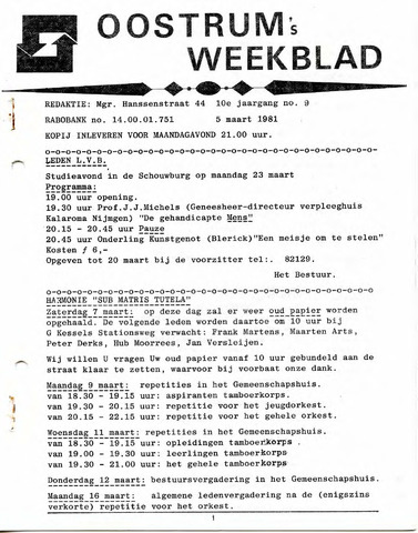 Oostrum's Weekblad 1981-03-05