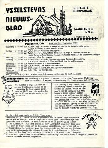 Ysselsteyns Nieuwsblad 1984-08-03