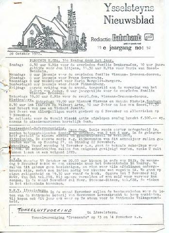 Ysselsteyns Nieuwsblad 1977-10-28