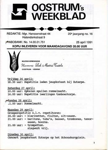 Oostrum's Weekblad 1991-04-25