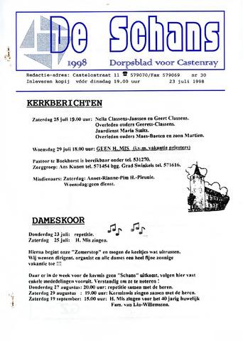 Castenrays dorpsblad De Schans 1998-07-23