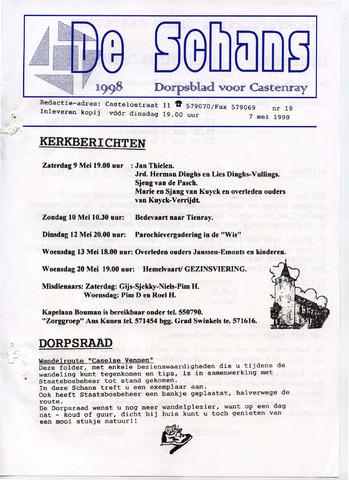Castenrays dorpsblad De Schans 1998-05-07