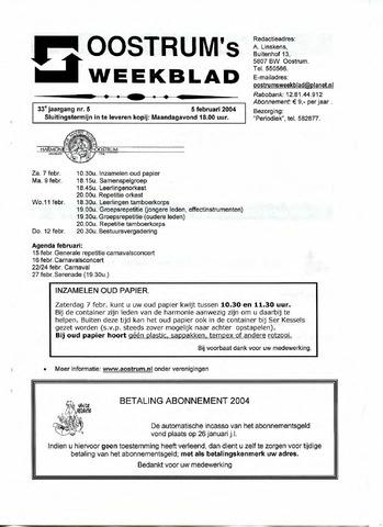 Oostrum's Weekblad 2004-02-05