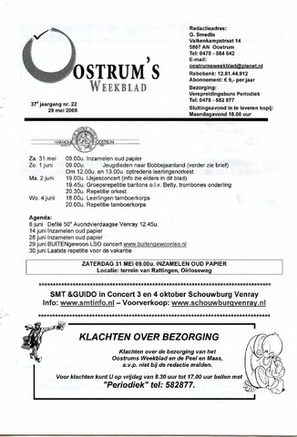 Oostrum's Weekblad 2008-05-29