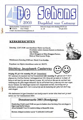 Castenrays dorpsblad De Schans 2003-07-09