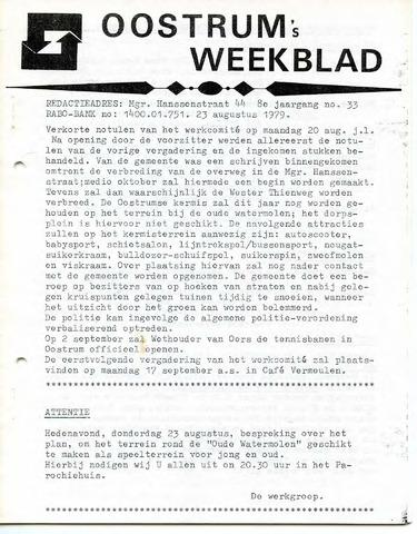 Oostrum's Weekblad 1979-08-23