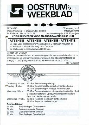 Oostrum's Weekblad 1993-02-11