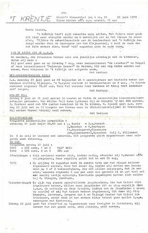 Oirlo's dorpsblad 't Krèntje 1973-07-20