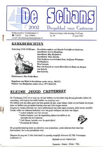 Castenrays dorpsblad De Schans 2002-06-12