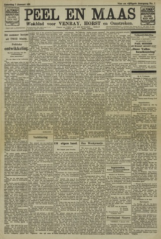 Peel en Maas 1933