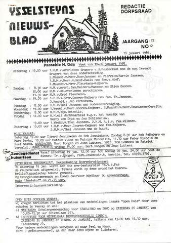 Ysselsteyns Nieuwsblad 1985-01-18