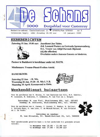 Castenrays dorpsblad De Schans 2000-01-13