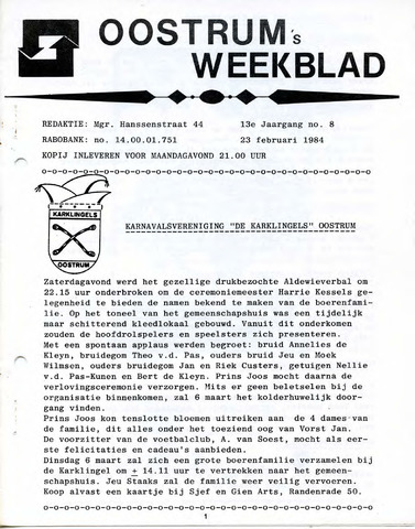 Oostrum's Weekblad 1984-02-23