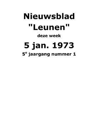 Dorpsblad Leunen-Veulen-Heide 1973