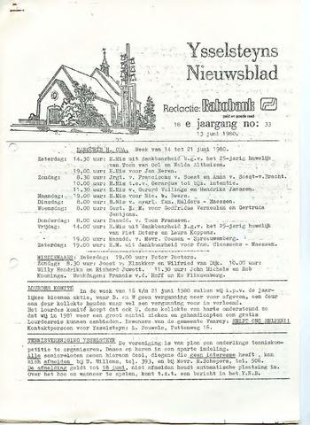 Ysselsteyns Nieuwsblad 1980-06-13