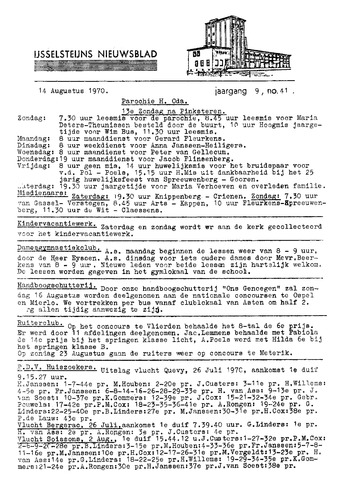 Ysselsteyns Nieuwsblad 1970-08-14