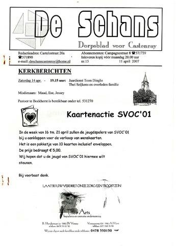 Castenrays dorpsblad De Schans 2007-04-11