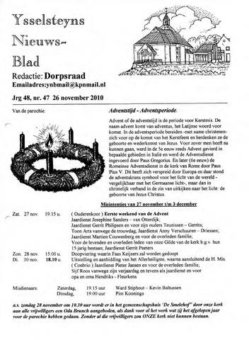 Ysselsteyns Nieuwsblad 2010-11-26
