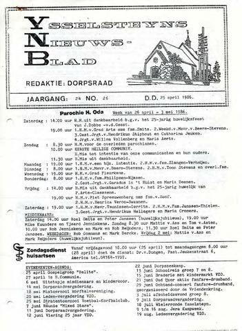 Ysselsteyns Nieuwsblad 1986-04-25