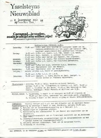 Ysselsteyns Nieuwsblad 1981-02-27