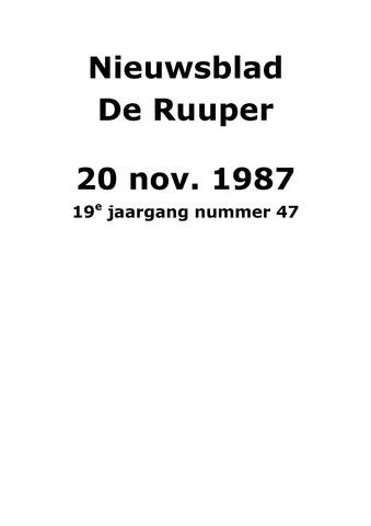 Dorpsblad Leunen-Veulen-Heide 1987-11-20