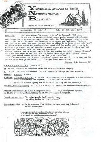 Ysselsteyns Nieuwsblad 1990-02-23