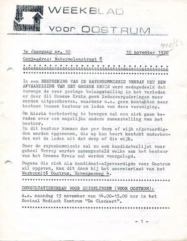 Oostrum's Weekblad 1972-11-10