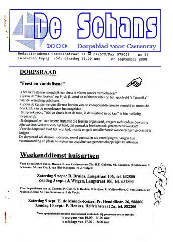 Castenrays dorpsblad De Schans 2000-09-07