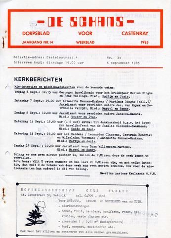 Castenrays dorpsblad De Schans 1985-09-06
