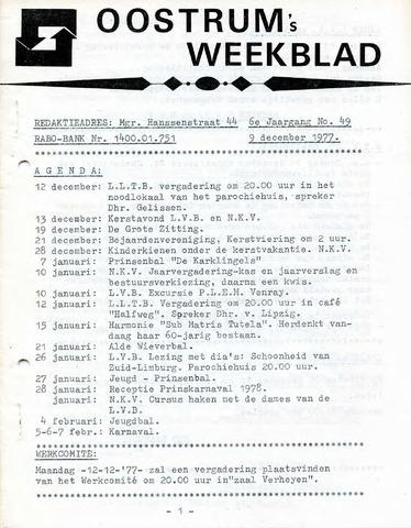 Oostrum's Weekblad 1977-12-09