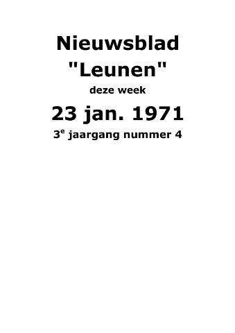 Dorpsblad Leunen-Veulen-Heide 1971-01-23