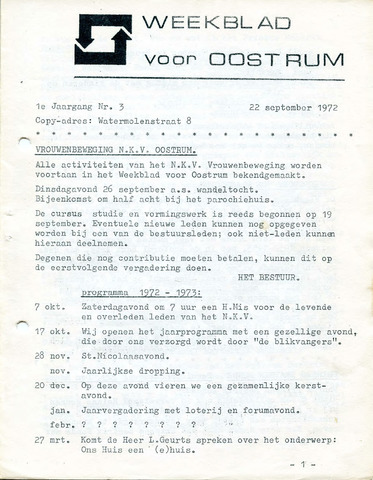 Oostrum's Weekblad 1972-09-22