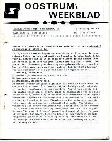 Oostrum's Weekblad 1978-10-26