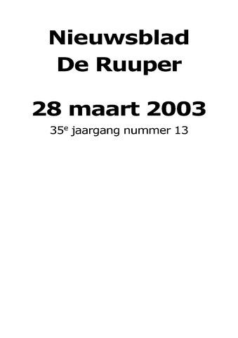 Dorpsblad Leunen-Veulen-Heide 2003-03-28