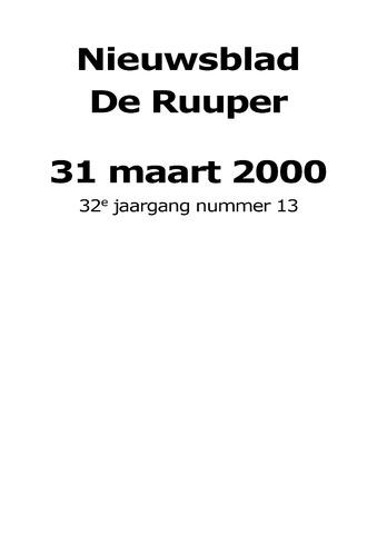 Dorpsblad Leunen-Veulen-Heide 2000-03-31