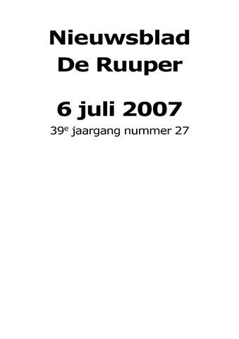 Dorpsblad Leunen-Veulen-Heide 2007-07-06