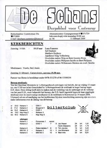 Castenrays dorpsblad De Schans 2009-02-11