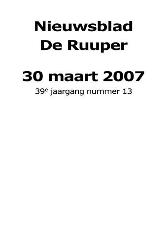 Dorpsblad Leunen-Veulen-Heide 2007-03-30