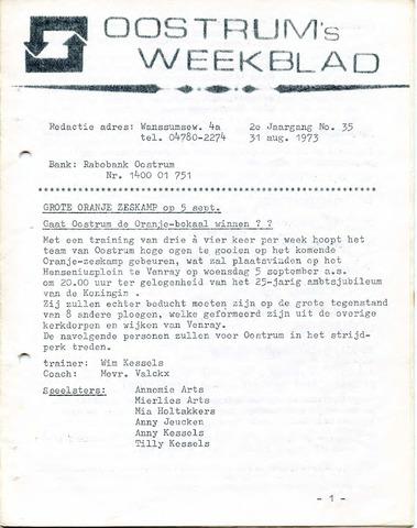 Oostrum's Weekblad 1973-08-31