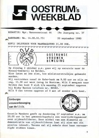 Oostrum's Weekblad 1990-09-20