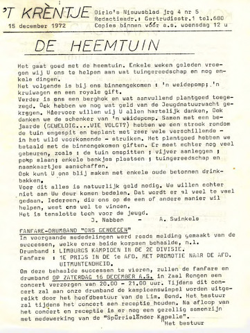 Oirlo's dorpsblad 't Krèntje 1972-12-15