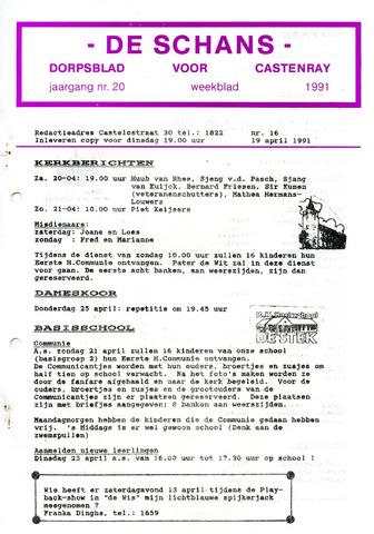 Castenrays dorpsblad De Schans 1991-04-19