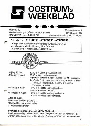Oostrum's Weekblad 1997-02-27
