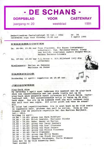 Castenrays dorpsblad De Schans 1991-04-05