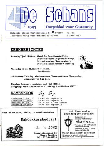 Castenrays dorpsblad De Schans 1997-06-05
